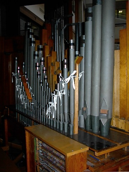 Pipework. Photo courtesy Terry Robson 2002 & PSTOS - State Office Building Juneau Alaska